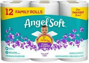 Angel Soft Fresh Lavender Scent 12 Big Rolls 1 Pack