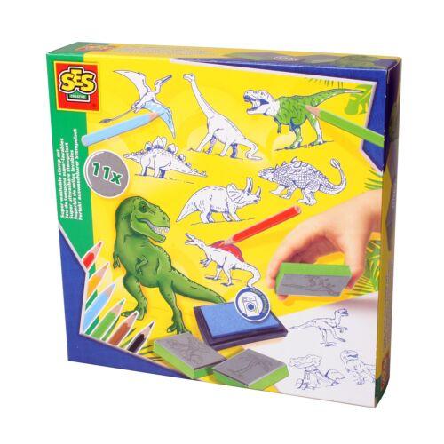 SES Creative 14919 Bastel-Set Kreativ-Packung STEMPEL-SET DINOSAURIER