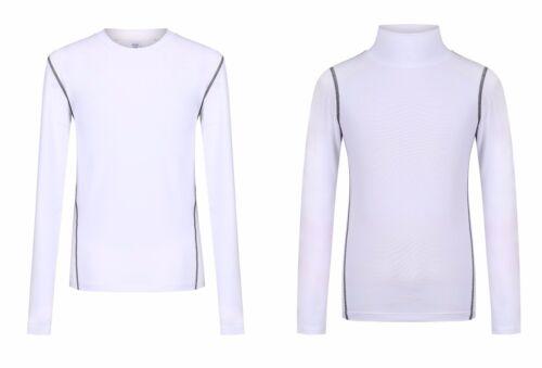 Jungen Kinder Kompression Basisschicht Thermo Shirt Top Langärmelig Häute UK
