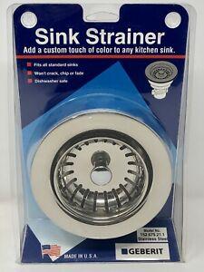 details about geberit chicago 152 675 21 1 ss kitchen sink basket strainer satin usa