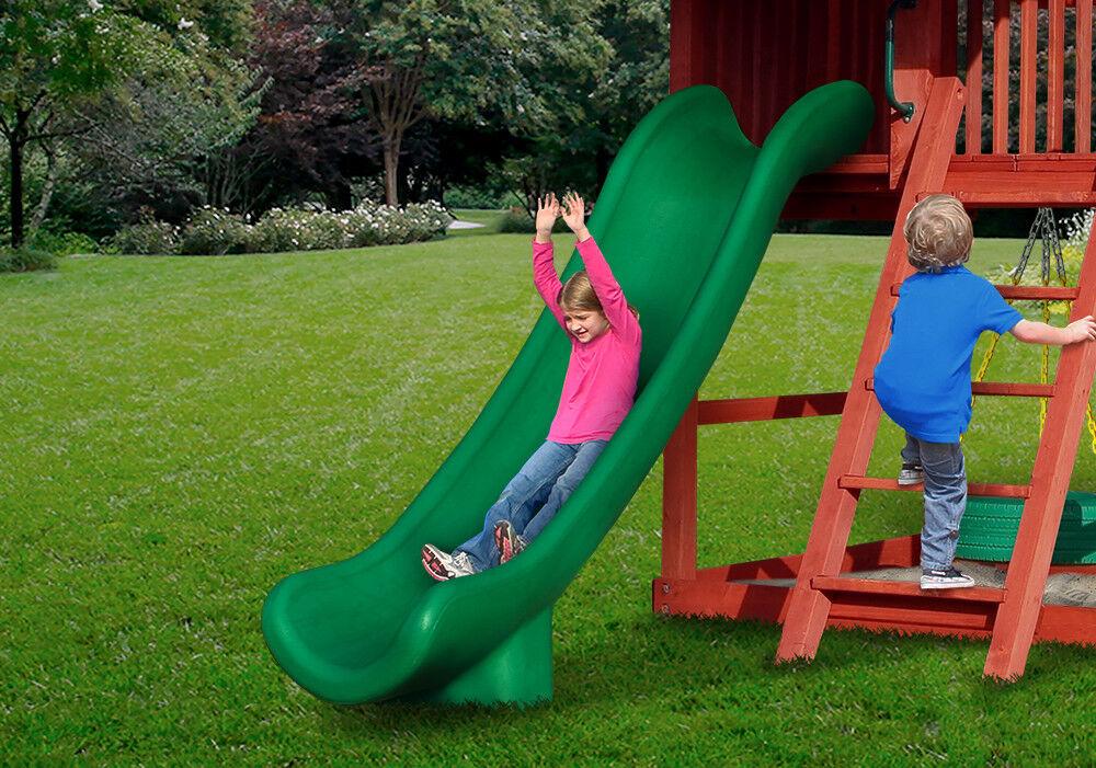 SWING SET STUFF 14' SUPER SLIDE GREEN GREEN GREEN playset playground accessories wood 0179 545c09