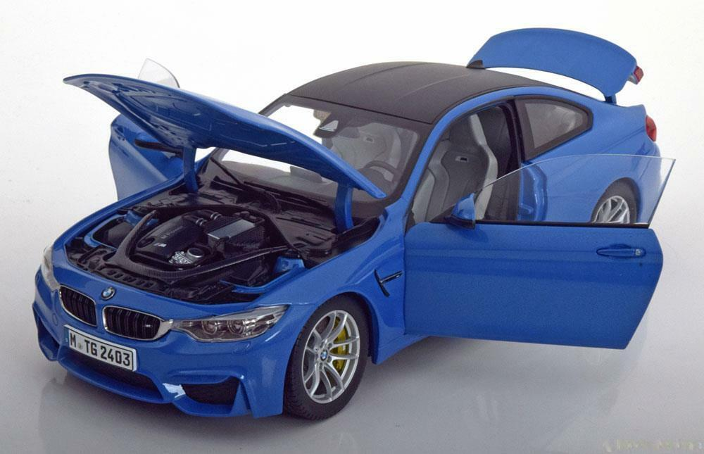 BMW M4 F82 COUPE YAS MARINA BLUE PARAGON 80432339607 1/18 2015 BLAU BLEU