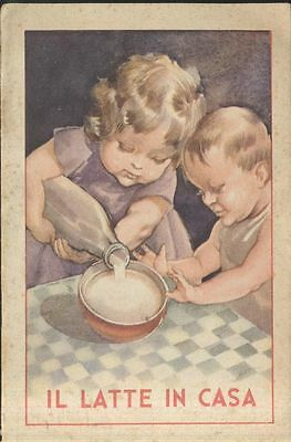 IL LATTE IN CASA bel libretto pubblicitario - Edizioni SAPPIA 1935