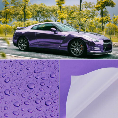 High Glossy Purple Car Body Films Vinyl Car Wrap Sticker Decal Air Release Film