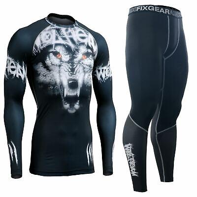 Leggings SET  MMA BJJ Wrestling Gym FIXGEAR Essentials Long Sleeve Compression