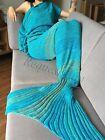 Super Soft Crocheted Mermaid Tail Blanket+Knitting kids&Adult Sofa Sleeping Bag