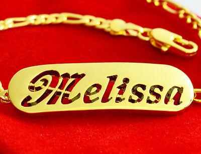Name Bracelet SASHA 18ct Gold Plated Birthday Wedding Bridesmaid Gifts For Her