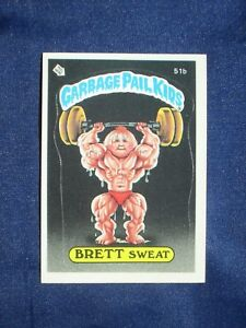 Vintage-Topps-Garbage-Pail-Kids-BRETT-SWEAT-Sticker-NM