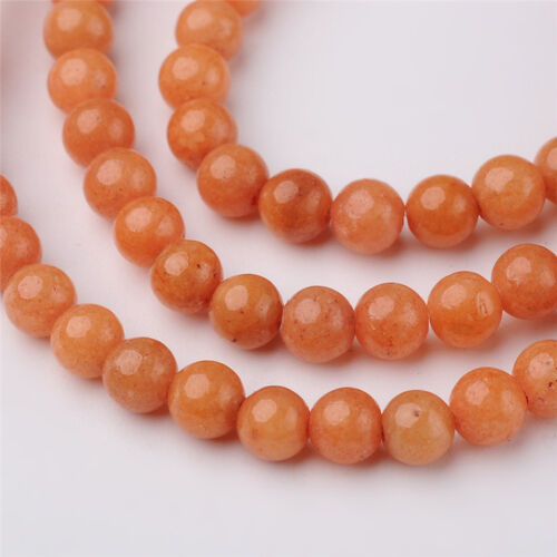 "16/"" Strd Colorful Natural Mashan Jade Stone Beads Round Smooth Loose Beads 4~8mm"