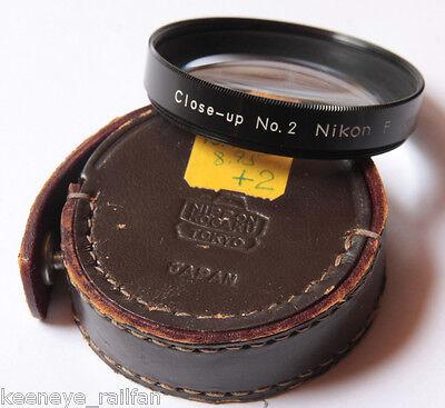 Vintage Nikon F 52MM Close UP NO.2 Camera Lens Filter in Nippon KOGAKU CASE