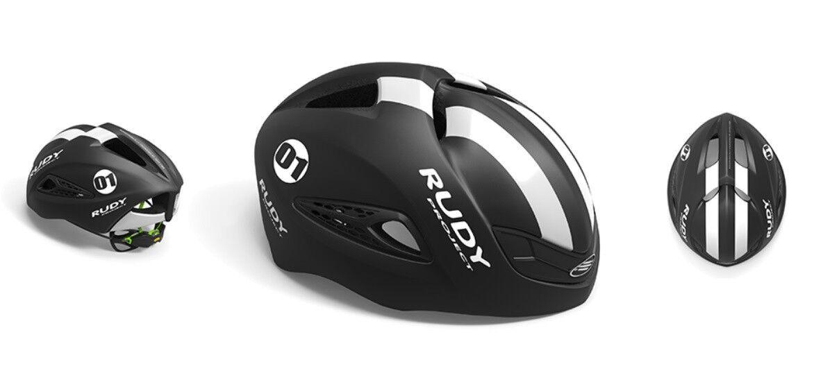 Casco Bici RUDY PROYECTO BOOST 01 negro blanco Mate HELMET Rudy Proyecto boost 01