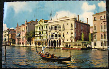 Used Postcard * Venice, Italy * Ca' d'Oro Palace on Grand Canal * Gondola