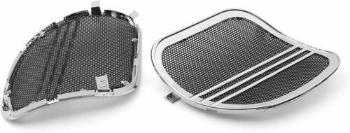 Mutazu Chrome Tri-Line Speaker Grills Cover Trim For Road Glide FLTRX 15-19