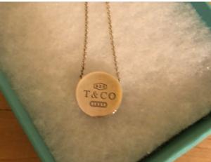 Rare Tiffany & Co 1837 Round Concave Slide Pendant Sterling Silver Retired