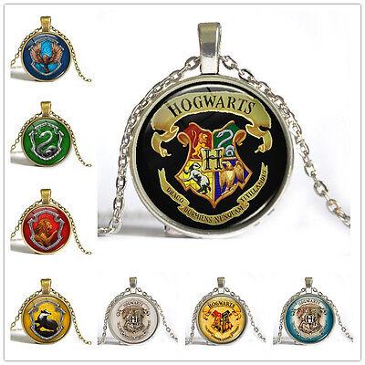 Fashion Hot Movie Harry Potter Vintage Time Gem Photo Art Pendant Necklace Gift