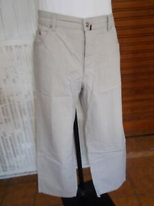 Pantalon-coton-beige-leger-stretch-PIERRE-CARDIN-W40-L34-ou-50FR-18n1