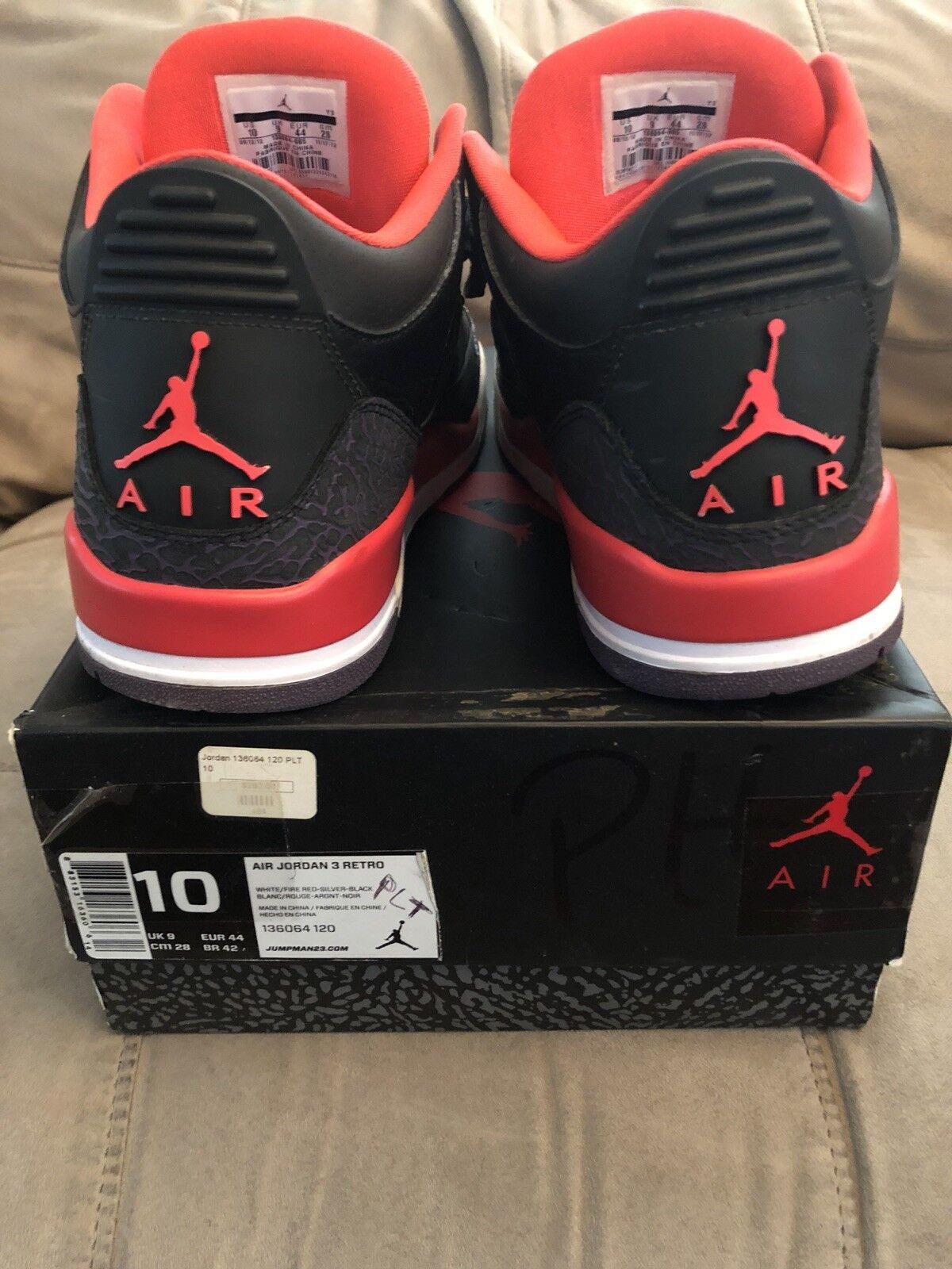 Nike Air Jordan III 3 Retro BLACK CRIMSON