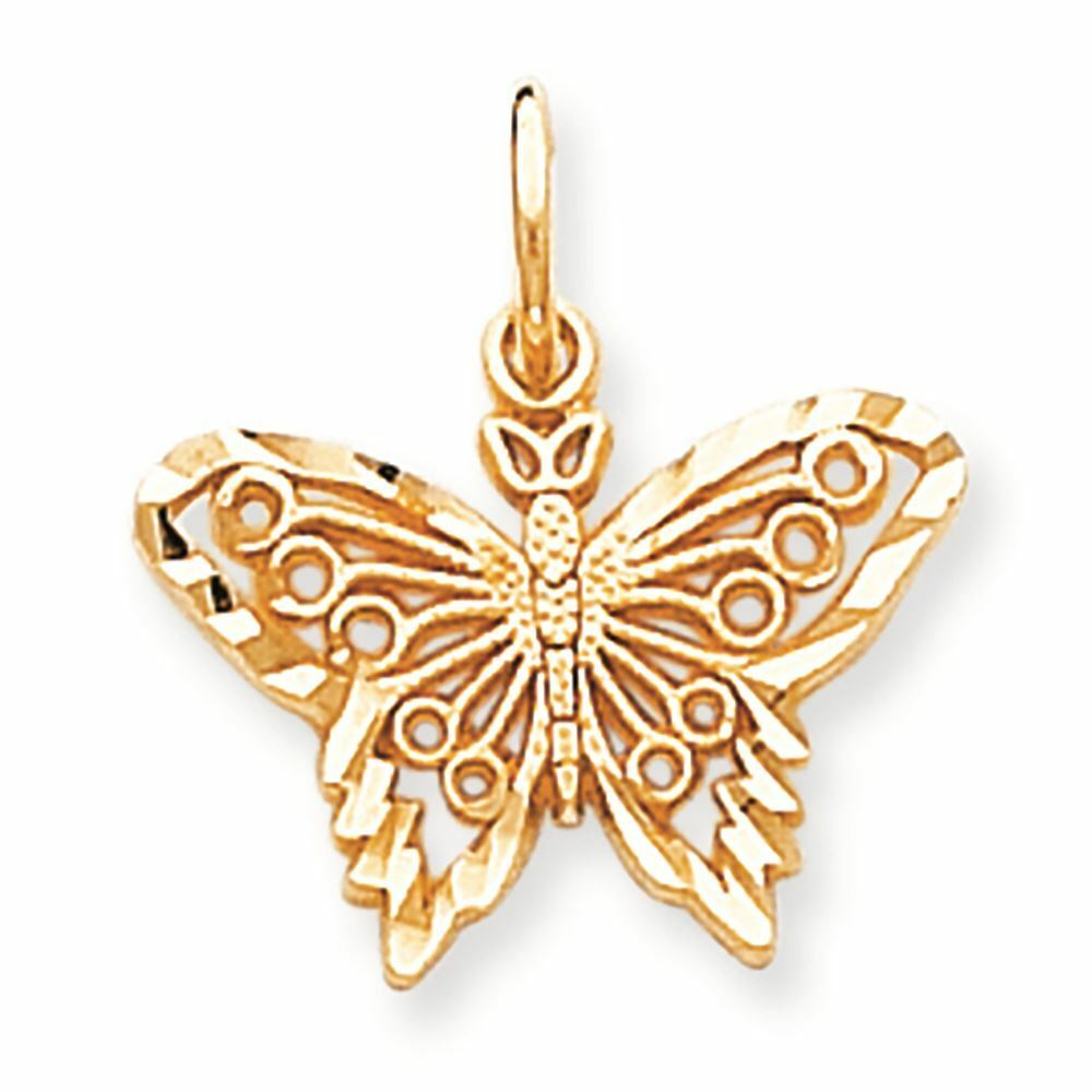 10K gold Butterfly Charm Pendant