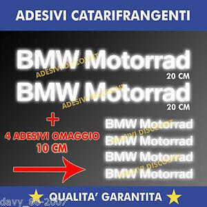 KIT-2-ADESIVI-4-OMAGGIO-BMW-MOTORRAD-R-1200-GS-LC-CASCO-SERBATOIO-RIFLETTENTI