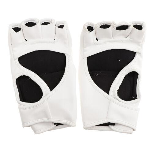 MMA Accessoire Protection de Main Kickboxing Demi--doigts Gants pour Boxe