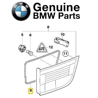 Genuine BMW E70 SUV Gasket Rear Light Trunk Lid Left OEM 63217288973