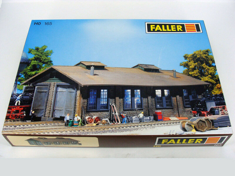 FtuttiER 165 165 165 HO H0 TWO-STtutti ENGINE SHED , REMISE A LOCOMOTIVES 2 PLACES , nuovo NUE ea670e
