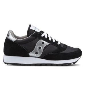Dettagli su Scarpe da Donna Saucony Jazz Original 1044 1 Nero Argento Sneakers Sportiva