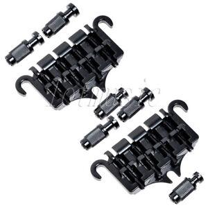 2-Sets-4-String-Bass-Guitar-Bridge-Tailpiece-for-Guitar-Parts-Replacement-Black