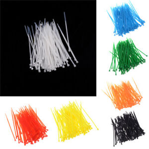100pc-3x100mm-Nylon-Plastic-Colourful-Cable-Wire-Organiser-Zip-Tie-Cord-Strap-7
