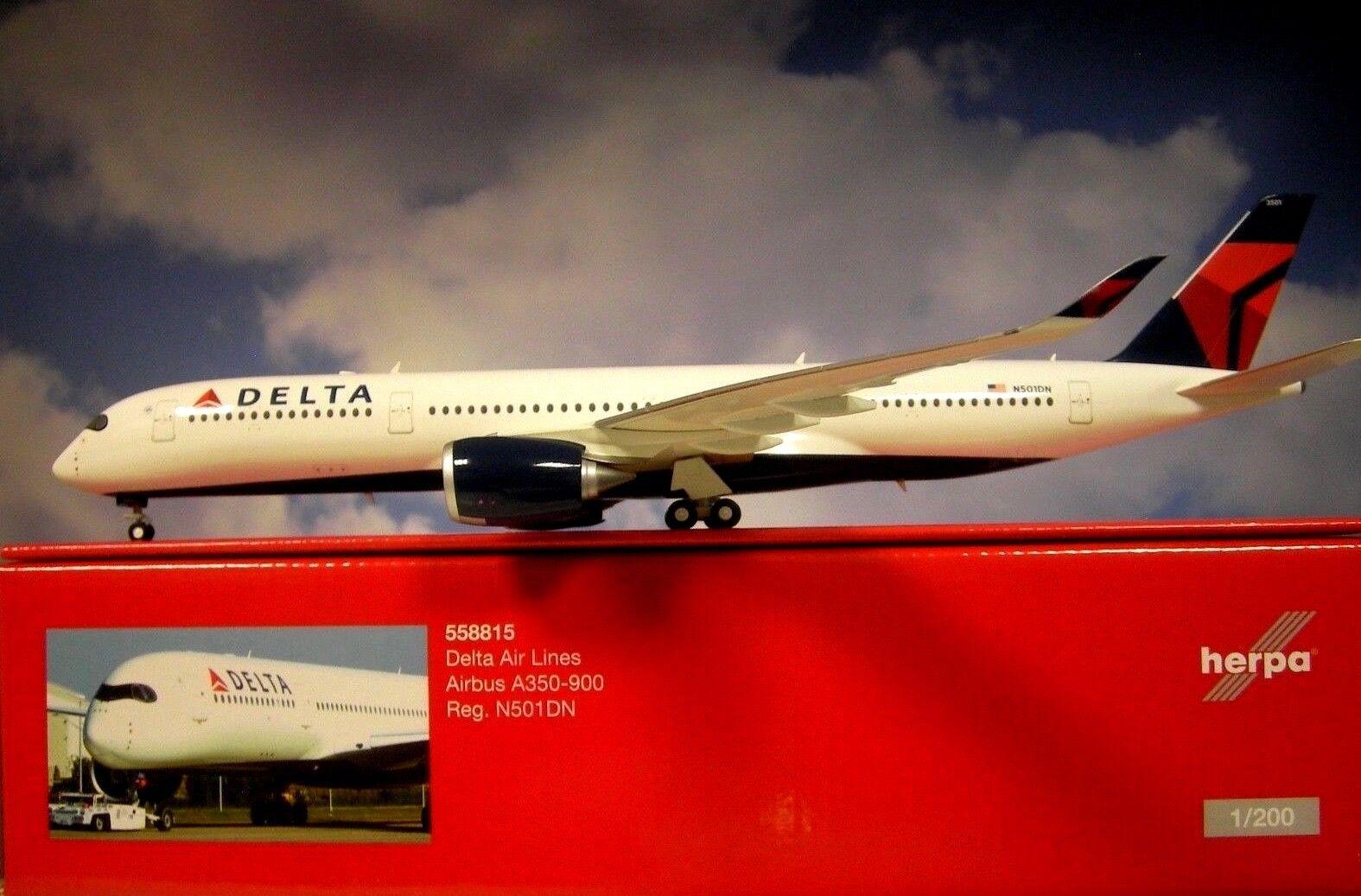 Herpa Wings 1 200 Airbus a350-900 Delta Air Lines n501n 558815