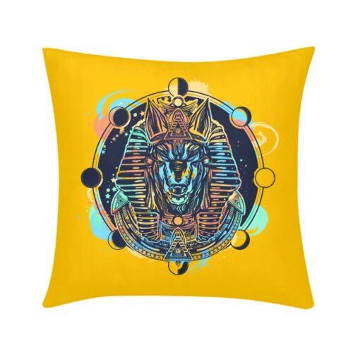 Gothic Pharaoh Print Cushion Cover Square Throw Pillow Case Waist Couch 16 18 20