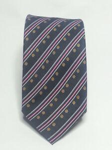 """Bruno Piatelli Mens Slim Classic Stripe Tie Grey Blue Silk Blend 2 3//4/"""" x 60/"""""""