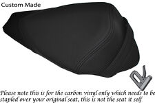 CARBON FIBRE VINYL CUSTOM FITS APRILIA RS4 125 11-12 REAR PILLION SEAT COVER