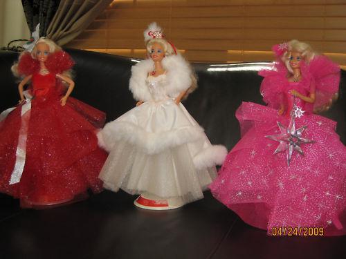1988 1989 1990 Primera 3 vacaciones Barbies Lote Deboxed Perfecto