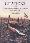 Citations of the Distinguished Conduct Medal 1914-1920: SECTION 1: Royal Flying Corps & Royal Air Force Foot Guards Yeomanry and Cavalry by Walker, Buckland (Paperback, 2007)