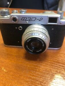 FED-2-vintage-Russian-Leica-M39-mount-camera-industar-50-USSR-Excellent