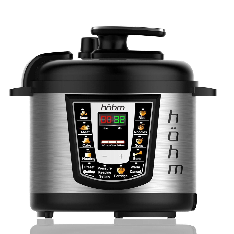 Hohm Autocuiseur Pro, multi-fonctionnel électrique Autocuiseur 6 QT