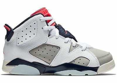 "NEW AUTHENTIC Brown 384666-705 Nike Preschool Air Jordan 6 Retro /""Wheat/"" PS"