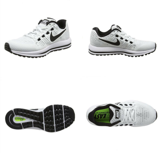 7b62c94c0c42 Nike Air Zoom Vomero 12 Running Shoes Mens 8 White Black for sale ...