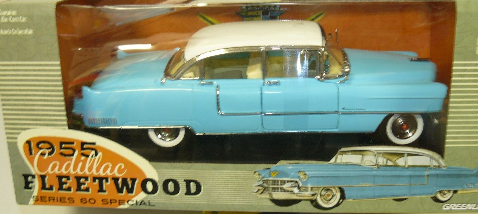 1 18 1955 Cadillac Fleetwood ,  in the box,  AS IS