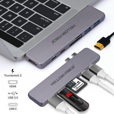 7-in-1 USB-C Hub Dual Type-C Multiport Adapter Thunderbolt 3 USB 3.1 Port HDMI
