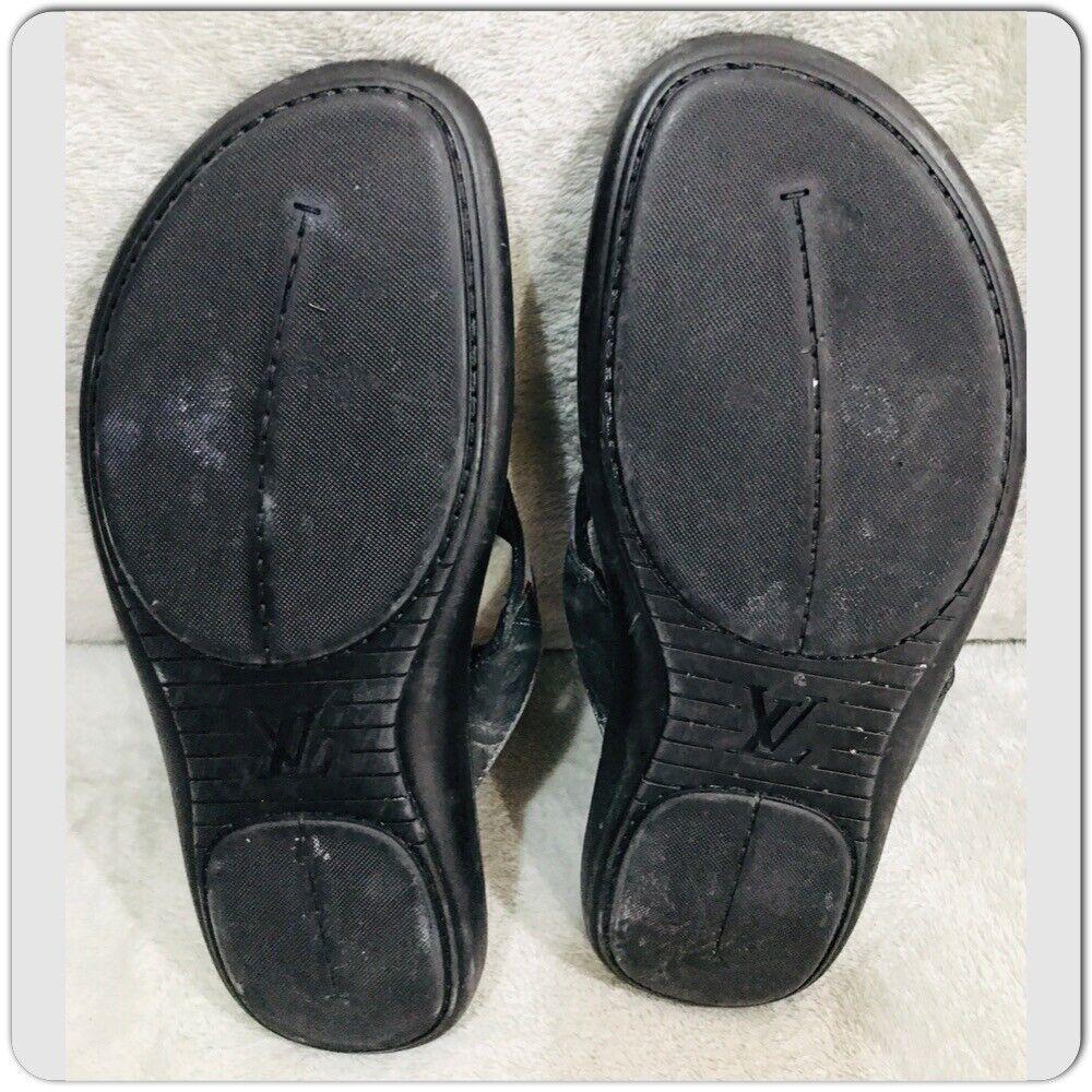 Louis Vuitton leather Canvas Men's Sandals Size 7 - image 6