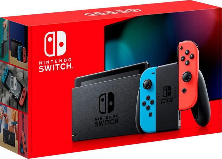 videogiochi e console: NUOVO NINTENDO SWITCH V2 1.1 CONSOLE BLUE/RED PORTATILE TOUCHSCREEN ITALIA 2019