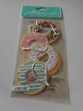 Scrapbooking Crafts Jolee's Tags Donuts Sprinkles Frosting Chocolate Pink X 8