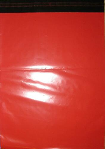 Assorted Size Red Mailing Courier Post Bags 161x240mm /& 250x350mm
