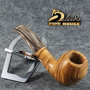 Eccezionale balandis ORIGINALE il Tabacco PIPE Handmade marcan Oliva Legno