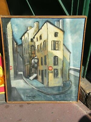 Art Candid Oil On Canvas Alley Per Marc Monkowicki 1929 2010