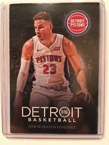 timeless design 88d88 73fcb Details about NBA DETROIT PISTONS 2018-2019 BASKETBALL POCKET SCHEDULE #23  BLAKE GRIFFIN - NEW