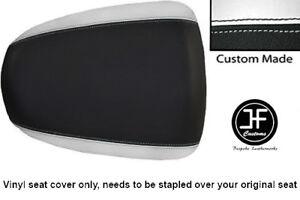 BLACK-amp-WHITE-VINYL-CUSTOM-FITS-SUZUKI-HAYABUSA-GSX-1300-99-07-REAR-SEAT-COVER