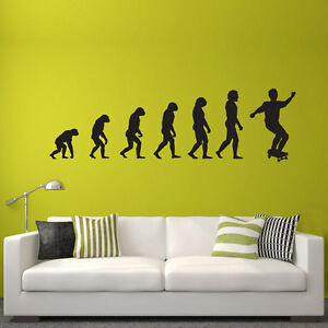 Wandtattoo-Skater-Evolution-Aufkleber-Skate-Wall-Art-Wand-Tattoo-2084